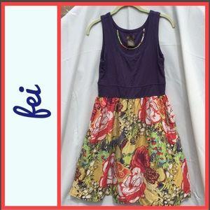 Fei Silk Floral Summer Tank Dress with Pockets!